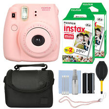 Fuji Fujifilm Instax Mini 8 Instant Film Camera Pink + 40 Film Accessory Kit