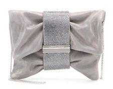Jimmy Choo Crystal Silver Metallic Chandra Clutch
