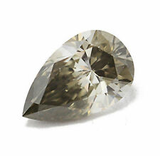 0.29 Carat Fancy Deep Gray Diamond Natural Color Certified Untreated Loose Pear