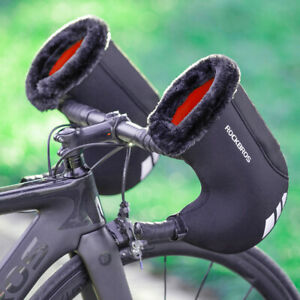 RockBros Winter Cycling Gloves Thicken Wind-proof Reflective Rain-proof