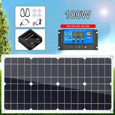 100W Watt Solar Panel Kit 12V Flexible Battery Charge Controller For RV Camping