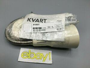 IKEA KVART White Gooseneck Desk Work Table Lamp Steel Spot Light Spotlight New
