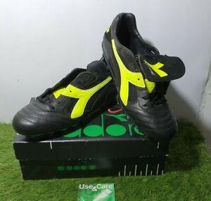 BNIB Diadora Pressing MD PU Totti Baggio Italy Kangaroo Leather Soccer Shoes