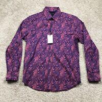 Robert Graham Pink Fuchsia Camouflage Long Sleeve Shirt - Men's Size LARGE