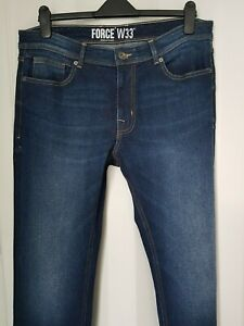 New Man Blue Classic Denim Jeans from Force New Attitude Size: W33 in