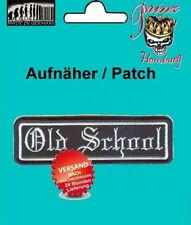 "OLD SCHOOL -  Patch Aufnäher ""hochwertig gestickt"" Biker Nascar Vintage Hot Rod"