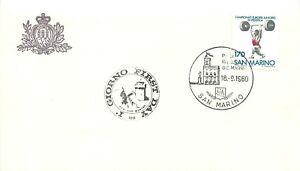 San Marino, FDC - Campionati europei juniores di sollevamento pesi, 18/09/1980