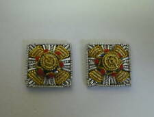 MESS DRESS PIPS, SOLD AS PAIR, OFFICERS RANK, SILVER AND GOLD - FAST DISPATCH