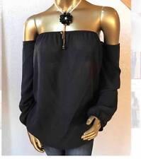 New Fashion Women's OFF SHOULDER BLACK  TOP----L---CUTE!!
