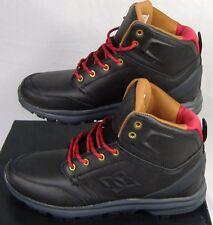 """New Mens 7.5 DC """"Ranger SE"""" Black Hiking Boots Leather Hi Top Skate Shoes $90"""