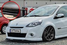 FRONT SPOILER SPOILER spada ABS Renault Clio 3 GT Gordini ABE NERO LUCIDO