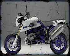 Bmw Hp2 Megamoto 09 A4 Metal Sign Motorbike Vintage Aged