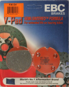 74-78 Honda CB 550 K1/76 EBC Front Semi Sintered V-Pad Brake Pads - FA13V 15-13V