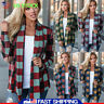 Women's Checks Plaid Lattice Loose Shawl Kimono Cardigan Coat Tops Jacket Blouse