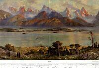 Molde in Norwegen XXL Kunstdruck 1911 von Krause-Wichmann Panorama