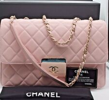 204e7b981686 NEW Authentic CHANEL Deauville 2 way Chain Shoulder Bag Calf Leather/Pink  Color