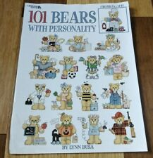 101 Bears With Personality Book Cross Stitch Patterns Leisure Arts  #3103