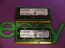 Crucial 8GB (2 x 4GB) PC3 10600 1333 DDR3L Sodimm Laptop RAM Memory 204 pin