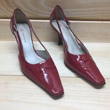 b41213faca1 AK Anne Klein Womens Size 6.5 Red Patent Leather Kitten Heel Pumps EUC