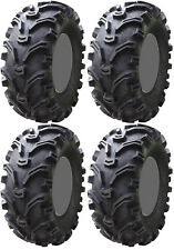 Four 4 Kenda Bearclaw ATV Tires Set 2 Front 25x8-12 & 2 Rear 25x10-12 K299