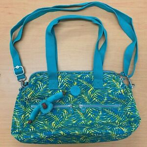 Kipling Jungle Print Turquoise shoulder bag new with tags Anna Monkey
