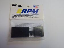 RPM- BLACK T-MAXX / E-MAXX BULKHEAD BRACES FRONT & REAR BRACES W/ - Model# 80152
