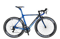 700C Road Bike 18 speed Full Carbon Fiber Frame Road Racing Bikes Bicycle 50cm