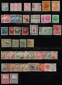 Japan: lot 4, Manchukuo, little lot +50 stamps, mint + used, EBJP028