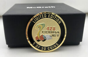 428 CJ COMMEMORATIVE COIN WITH BAG - 2 INCH DIA - MUSTANG-COUGAR-TORINO- 1 OF 50