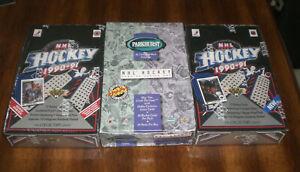 3 HOCKEY CARD BOXES - 1990-91 SEALED UPPER DECK LOW & HI - 1994-95 PARKHURST