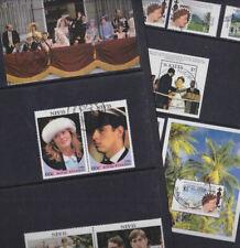 Nevis 1986-92 Used FU Full Sets Minisheets Royal Wedding Andrew Queen Elizabeth