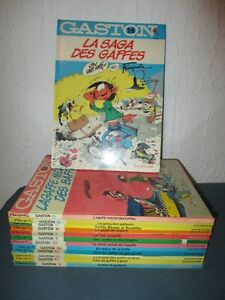 LOT BD / COLLECTION QUASI COMPLETE / GASTON LAGAFFE / 13 TOMES / FRANQUIN