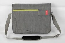 Bipra 15.6 Inch Laptop Bag with Shoulder Strap Grey with Green Strip