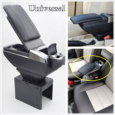 Adjustable Reinstallable black PU Leather Centre Console Armrest Box Universal