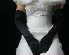 New Women Lady Cosplay Gothic Opera Bridal Fancy Wedding Long Elbow Black Gloves