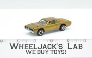 Custom Dodge Charger Gold 1969 Redline Hot Wheels Mattel Vintage Redline RL