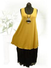 PoCo DeSiGn LAGENLOOK Top Tunika Long-Shirt Zwischenteil curry L-XL-XXL-XXXL