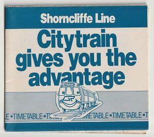 VINTAGE 1987 SHORNCLIFFE LINE QUEENSLAND RAILWAYS PAPER TRAIN TIMETABLE ELECTRIC