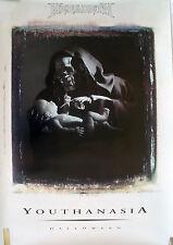 RARE MEGADETH YOUTHANASIA HALLOWEEN 1994 VINTAGE MUSIC RECORD STORE PROMO POSTER