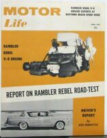 1957 AMC Rambler Rebel V8 Motor Life Road Test Daytona Beach Sales Folder Mailer