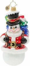 Christopher Radko Hand-Crafted European Glass, Surprise Santa Snowman!