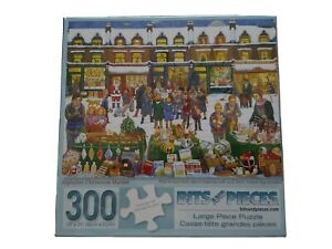 Bits And Pieces Alphabet Christmas Market 300 LG Piece Jigsaw Puzzle NEW Sealed