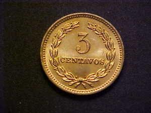 1974 EL SALVADOR 3 CENTAVOS KM# 148 - VERY NICE CH BU COLLECTOR COIN! -d4426xxx