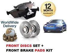 FOR VOLVO S60 2000-2008 2.4 Bi 2.4D 2.4 D5 NEW FRONT DISCS SET + BRAKE PADS KIT
