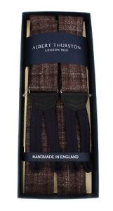 NWT ALBERT THURSTON BRACES suspenders tubed tweed luxury handmade England