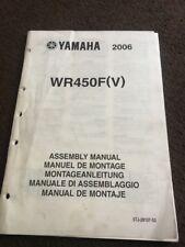 Manual de montaje de Yamaha Wr450f 2006