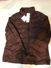 size L Large Uniqlo Women Ultra light down jacket light Wine Color