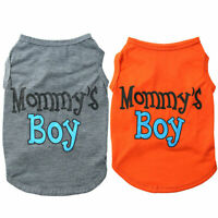 Pet Clothes Dog Summer Shirt MOMMY'S BOY Printed Sleeveless Vest Puppy Accessory