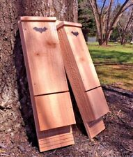 *Two Pack* Single Chamber Cedar Bat House Box - All Natural Mosquito Control