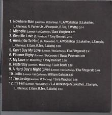 rare INSTRUMENTAL CD slip BEATLES SONGS BY JAZZ MASTERS Michelle YESTERDAY Vol.2